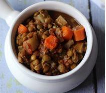 crock pot vegetable lentil stew