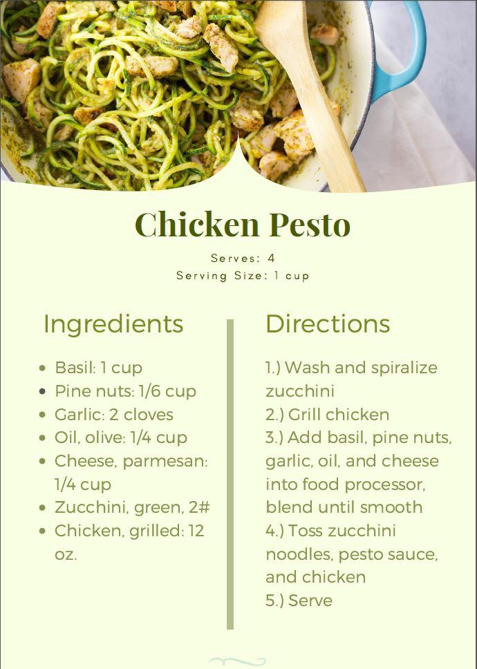 chicken pesto